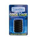 Сжимающая утяжка черная TITAN COCK CAGE